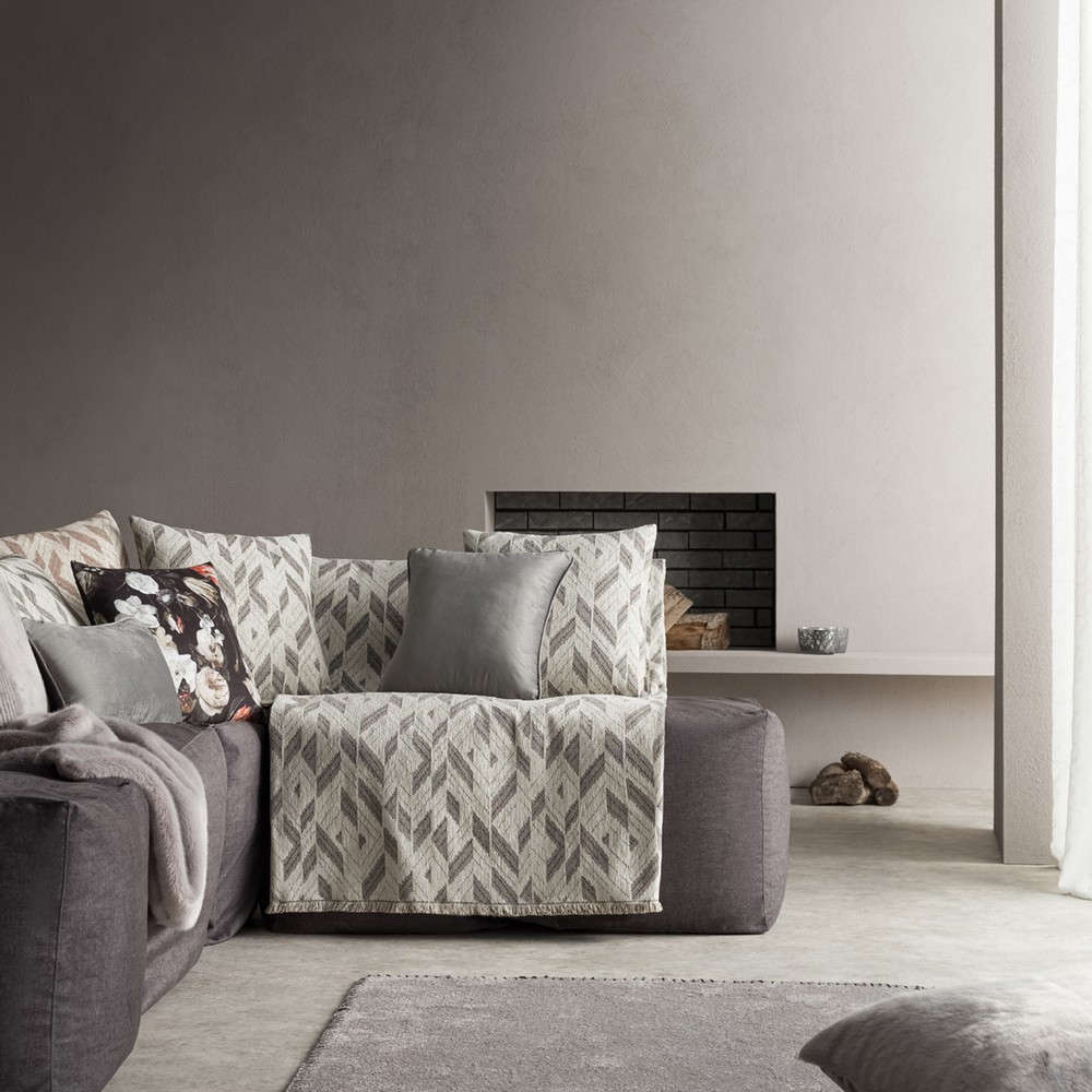 Ριχτάρι Niagra 842/15 Grey Gofis Home Τριθέσιο 180x310cm