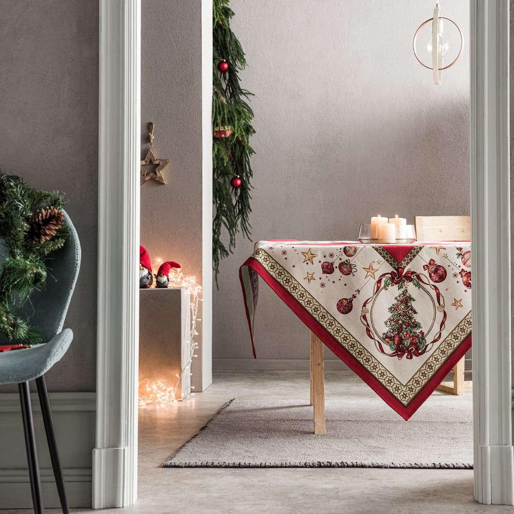 Τραπεζομάντηλο Χριστουγεννιάτικο 693 Multi Gofis Home 150X250