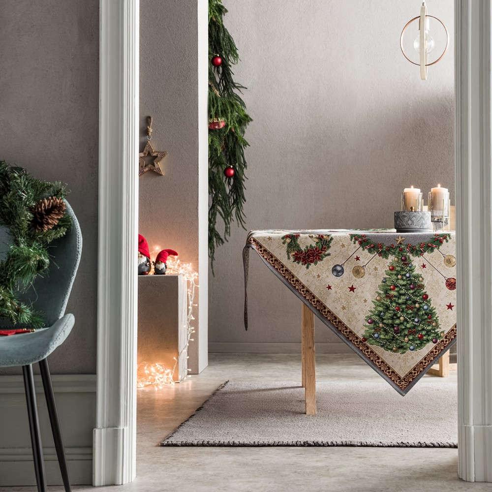 Τραπεζομάντηλο Χριστουγεννιάτικο 718 Multi Gofis Home 150X200