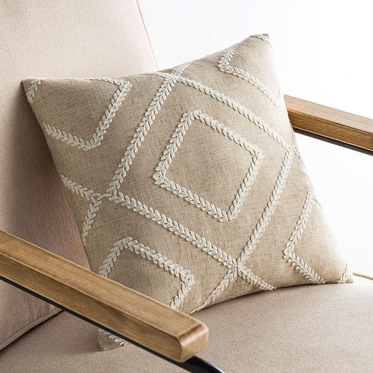 Μαξιλαροθήκη Διακοσμητική Fabio Beige 676A/06 Gofis Home 45X45 Βαμβάκι-Polyester