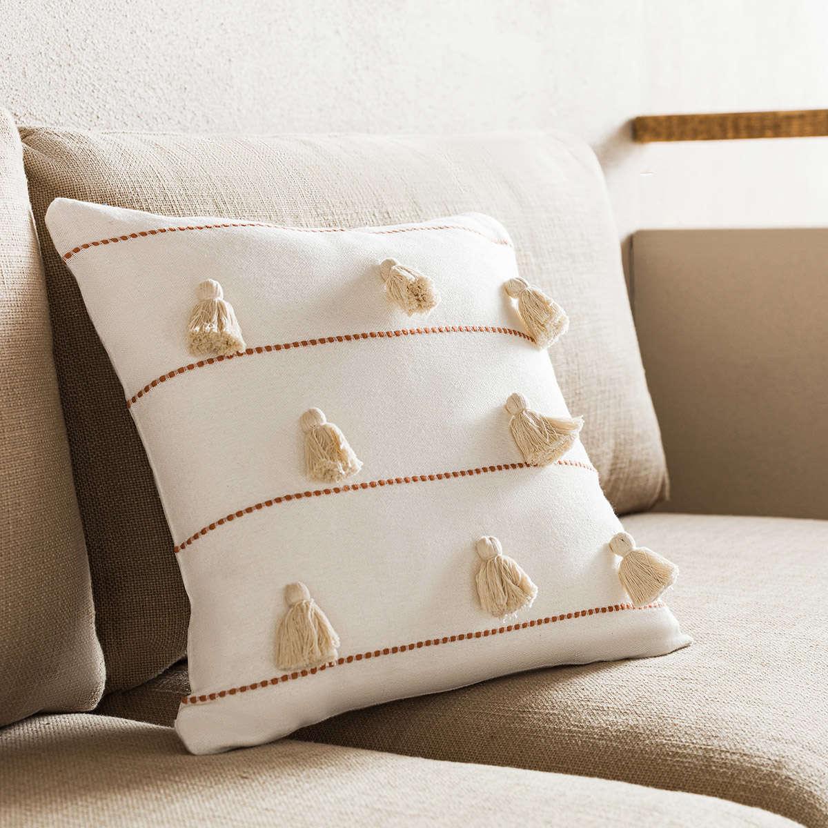 Μαξιλαροθήκη Διακοσμητική Pomy Perfect Tan 188/13 Gofis Home 45X45 100% Βαμβάκι