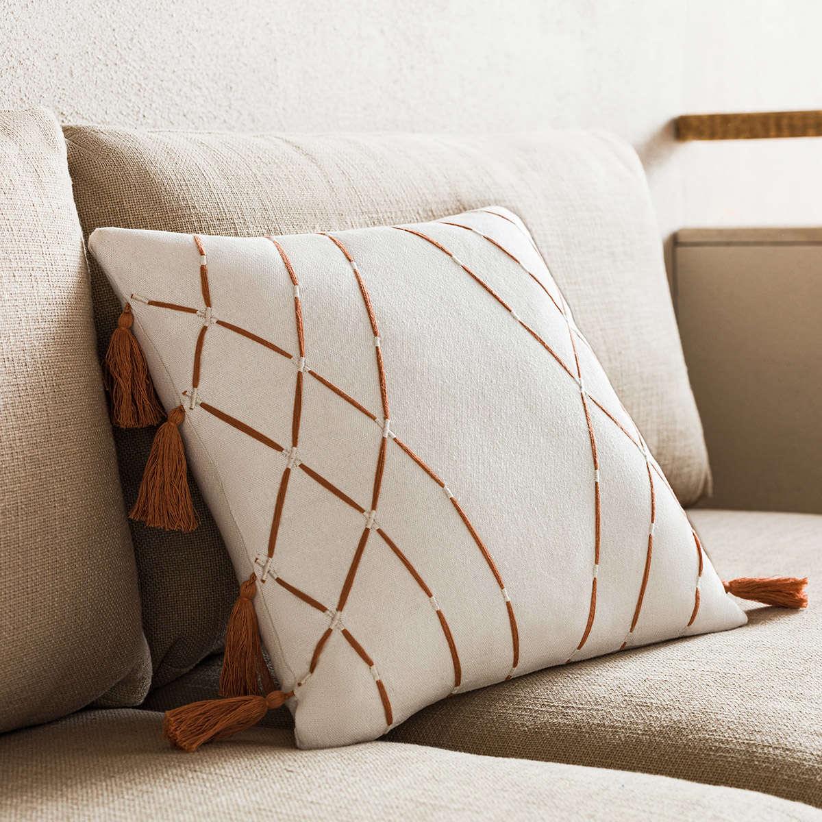 Μαξιλαροθήκη Διακοσμητική Sabi Perfect Tan 203/13 Gofis Home 45X45 100% Βαμβάκι