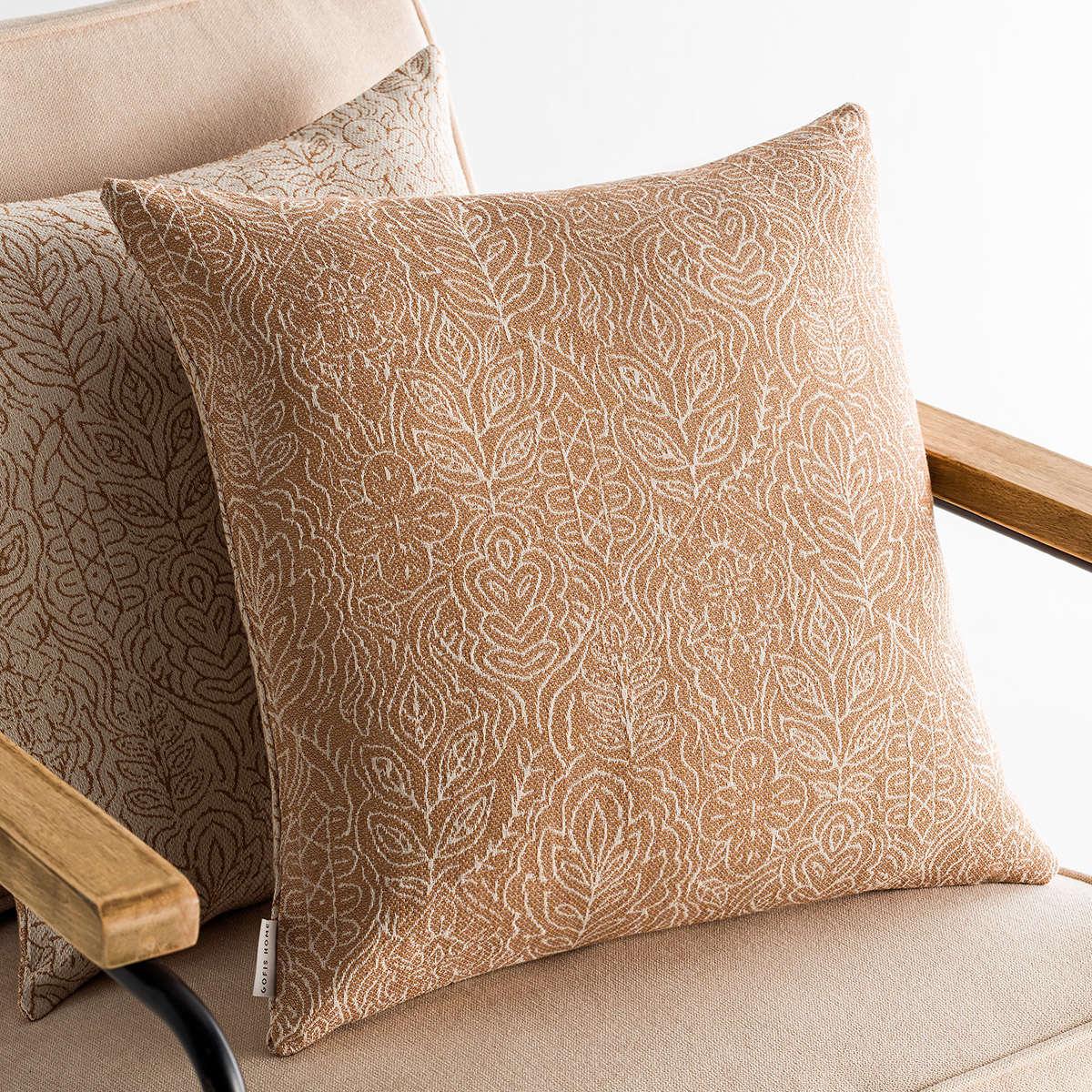 Μαξιλαροθήκη Διακοσμητική Mandala Brown 140/13 Gofis Home 50X50 Βαμβάκι-Polyester