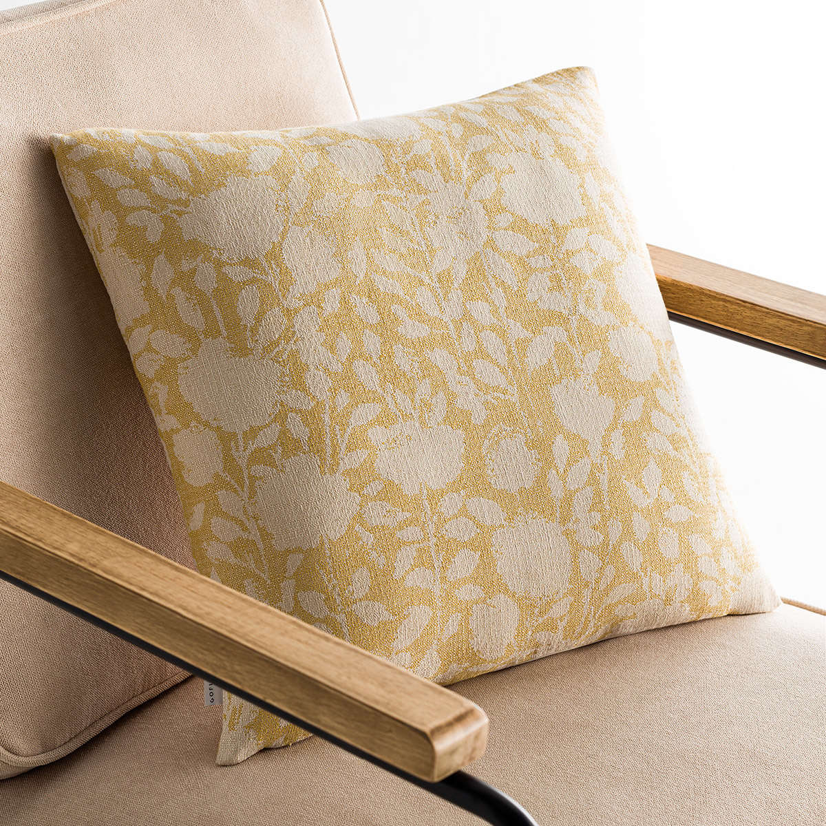 Μαξιλαροθήκη Διακοσμητική Rosefield Mustard 201/04 Gofis Home 50X50 Βαμβάκι-Polyester