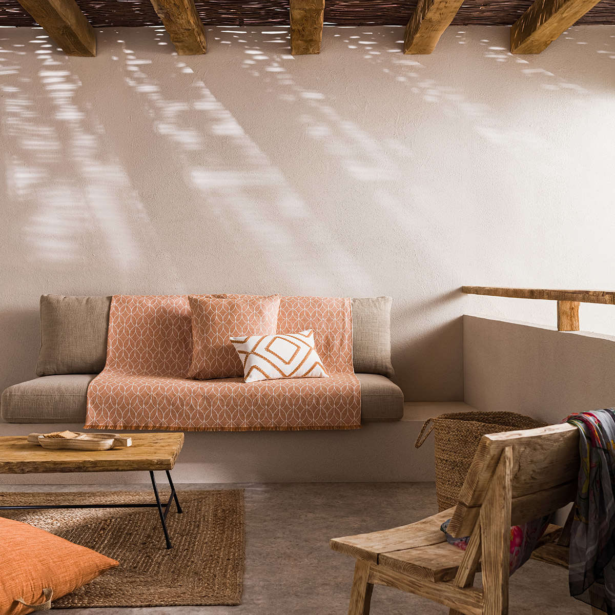Ριχτάρι Lumien Brown 517/13 Gofis Home Τριθέσιο 180x310cm