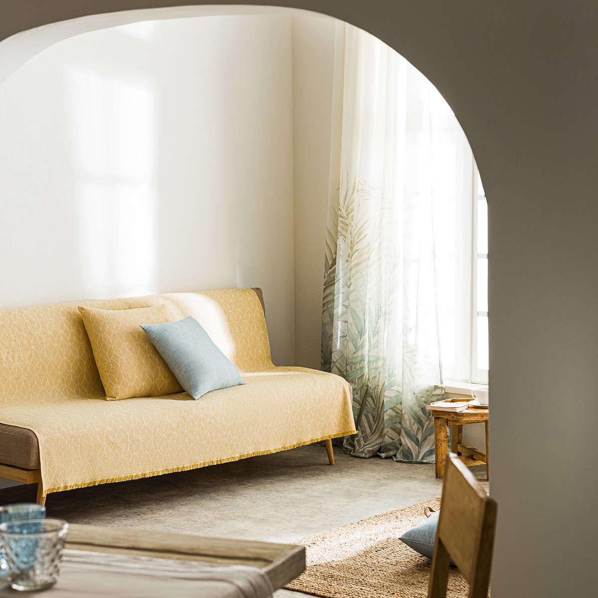 Ριχτάρι Lumien Mustard 517/04 Gofis Home Τριθέσιο 180x310cm