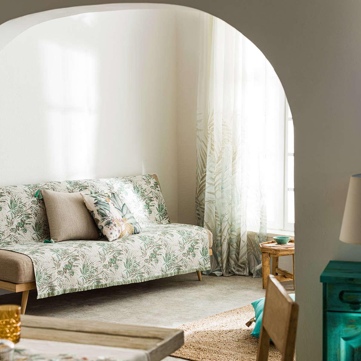 Ριχτάρι Paloma Green 696/18 Gofis Home Τετραθέσιο 180x350cm