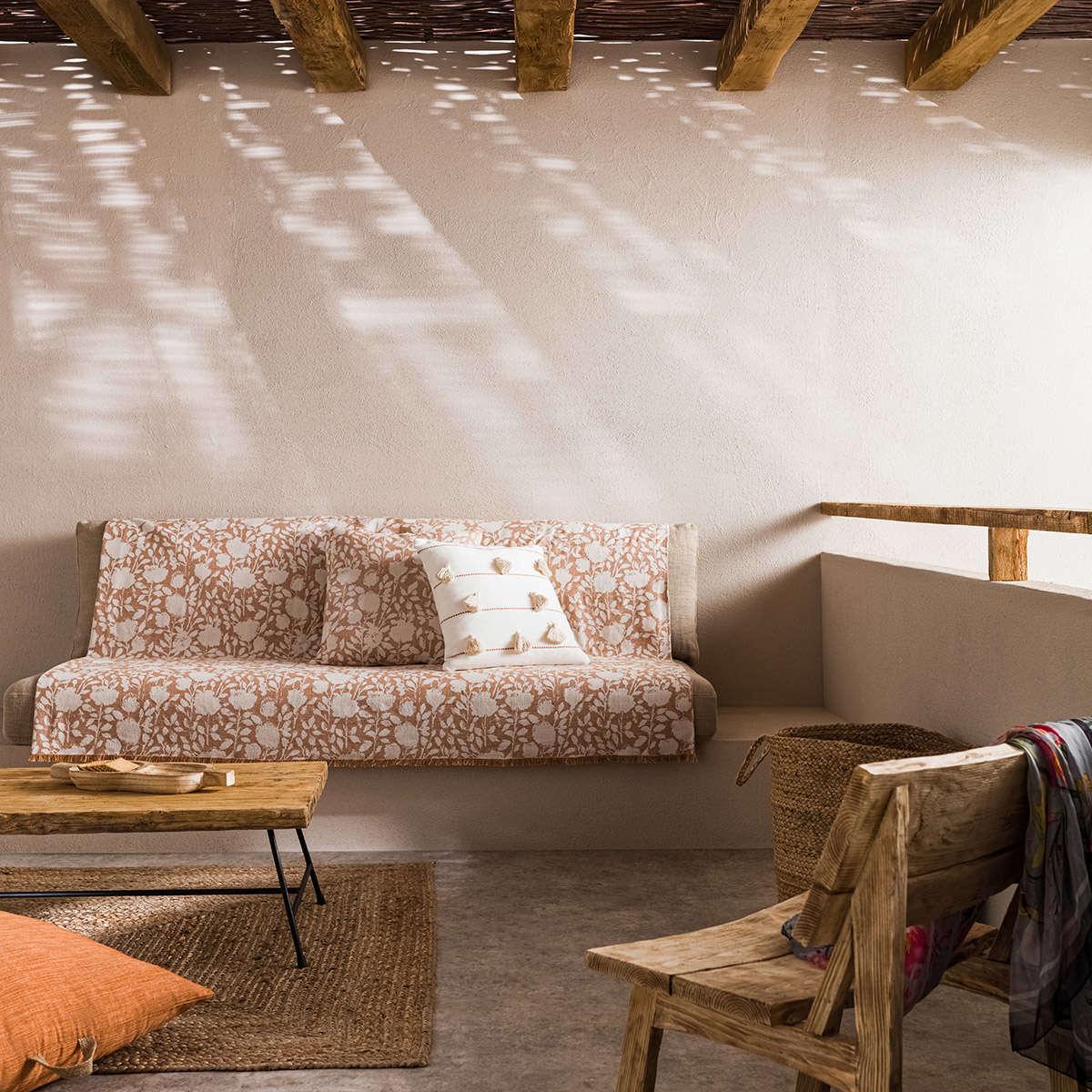 Ριχτάρι Rosefield Brown 201/13 Gofis Home Τετραθέσιο 180x350cm