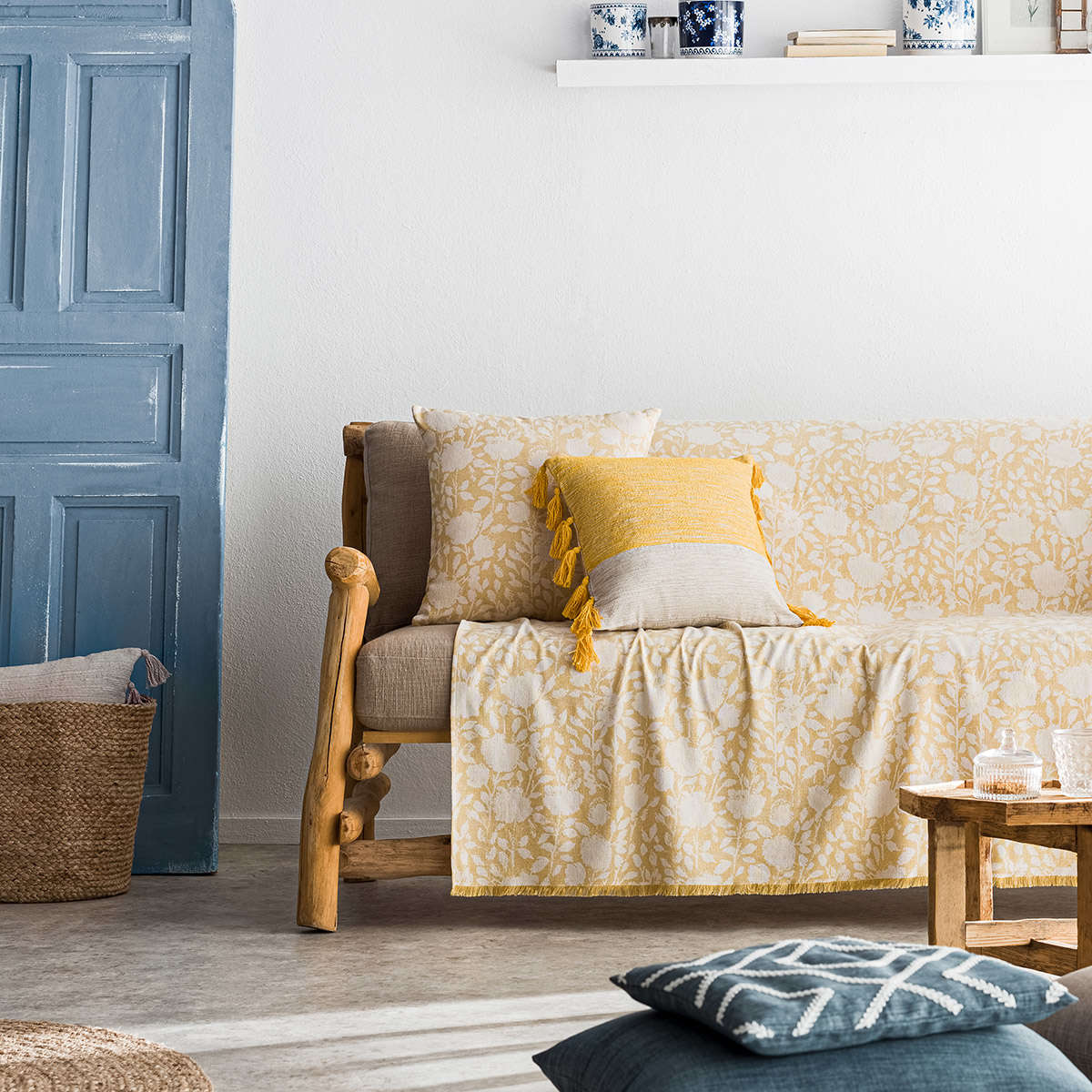 Ριχτάρι Rosefield Mustard 201/04 Gofis Home Διθέσιο 180x250cm