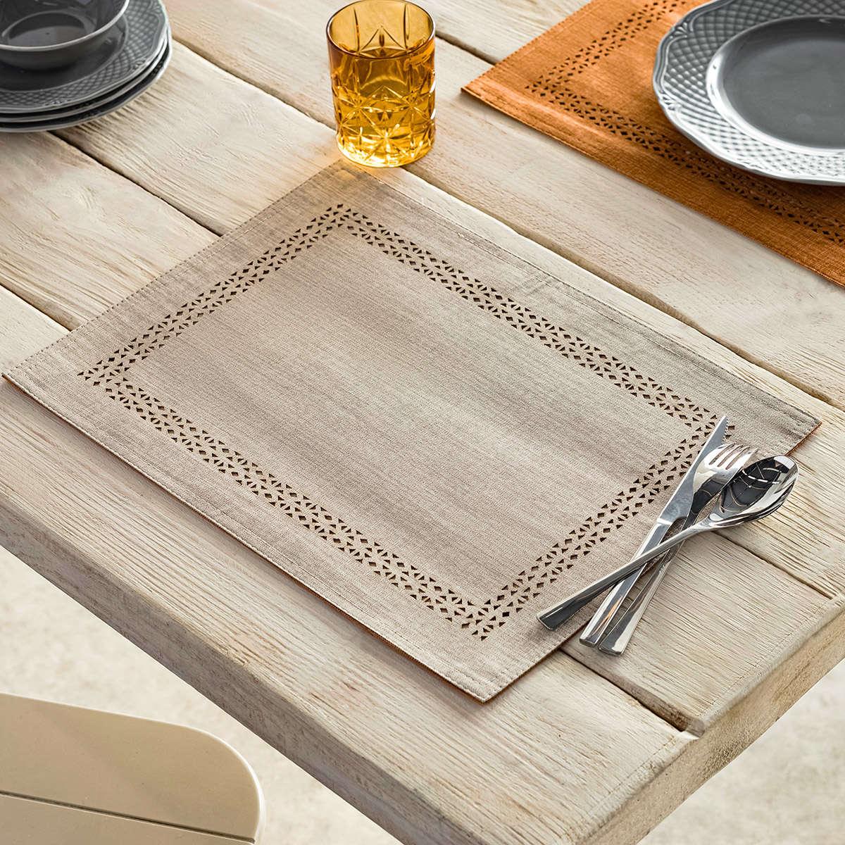 Σουπλά Σετ 2τμχ Artisan Linen – Tan 930/06 Gofis Home