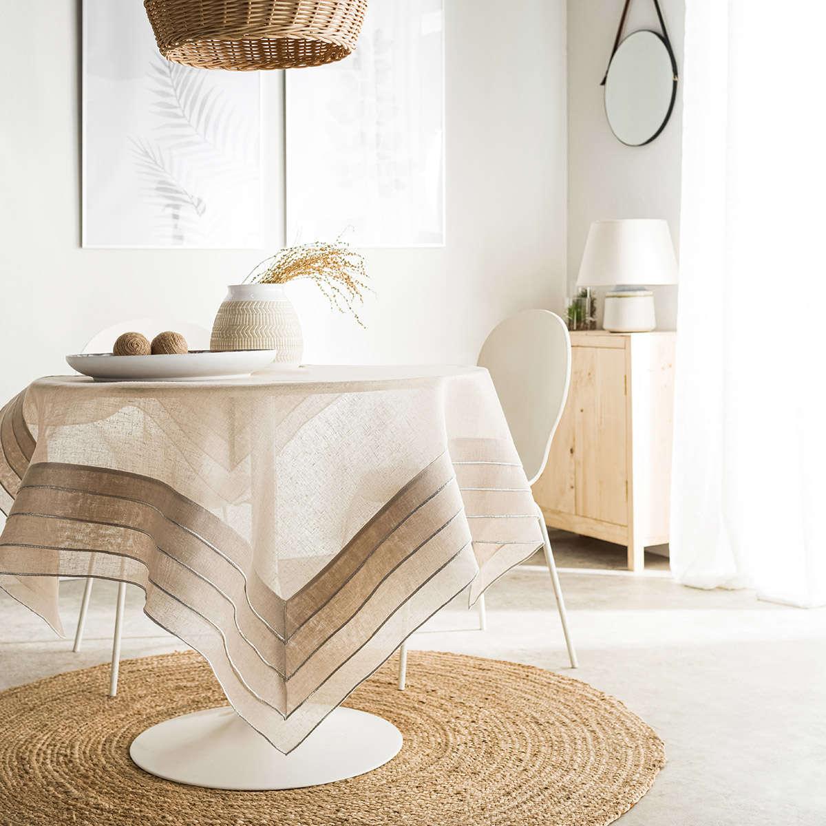 Τραπεζομάντηλο Beatrice Linen 619/06 Gofis Home 120X120