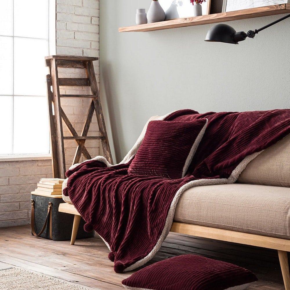 Κουβέρτα Καναπέ Με Γούνα Softy 478/19 Cherry Gofis Home 150X180 130x170cm