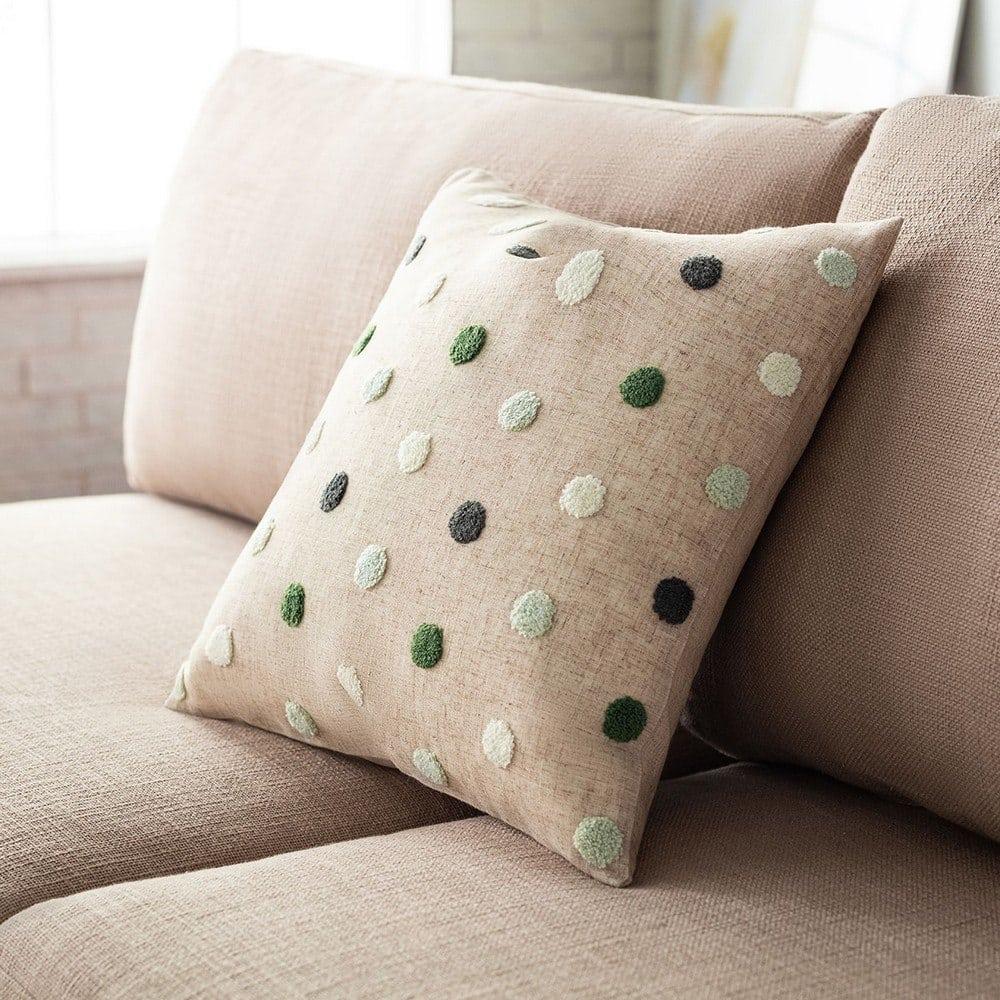 Μαξιλαροθήκη Διακοσμητική Felicia 206/18 Pine Green Gofis Home 45X45 Λινό-Polyester