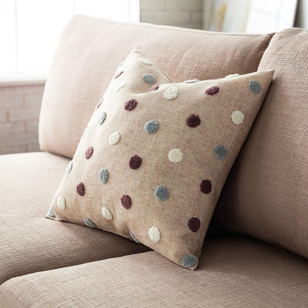 Μαξιλαροθήκη Διακοσμητική Felicia 206/19 Purple-Blue Gofis Home 45X45 Λινό-Polyester