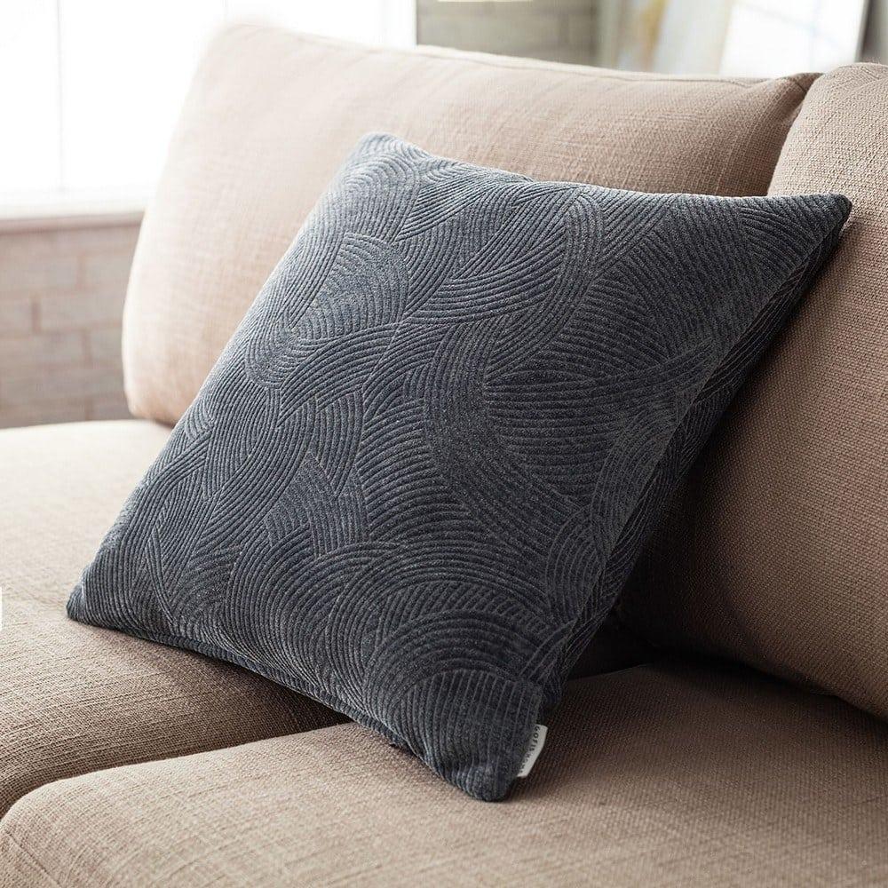 Μαξιλαροθήκη Διακοσμητική Nimbus 447/14 Coal Grey Gofis Home 50X50 Ακρυλικό-Polyester