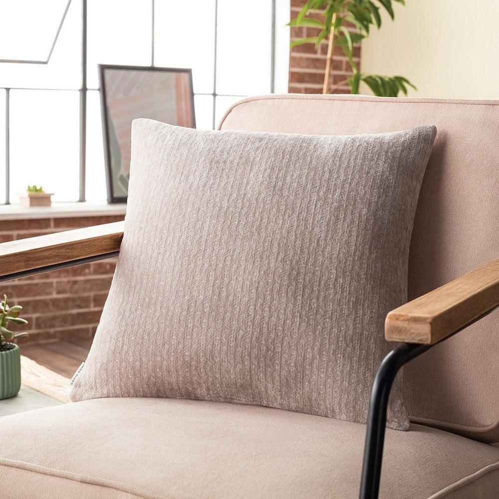 Μαξιλαροθήκη Διακοσμητική Valley 421/06 Cement Gofis Home 50X50 Ακρυλικό-Polyester