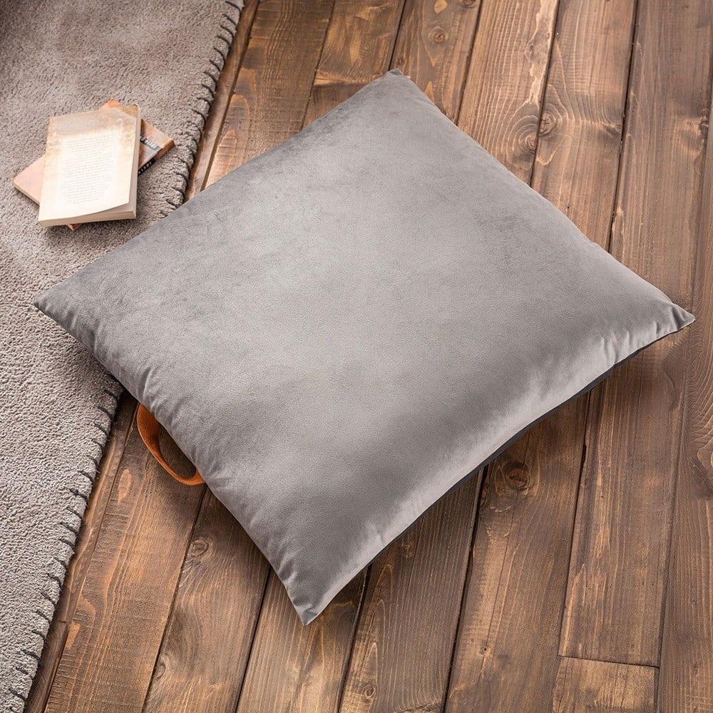 Μαξιλαροθήκη Διακοσμητική Δαπέδου Winter 711C/15 Grey Gofis Home 60X60 100% Polyester