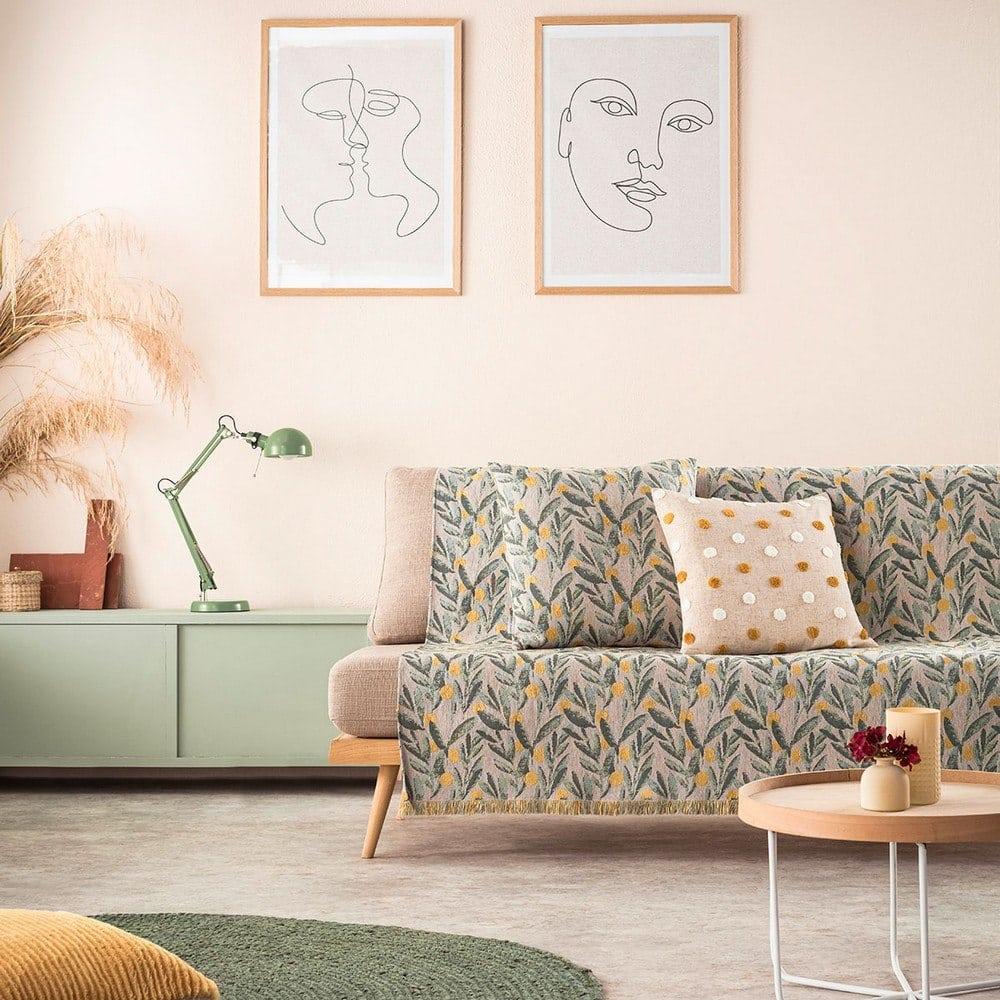 Ριχτάρι 233/11 Olive Gofis Home Τετραθέσιο 180x350cm