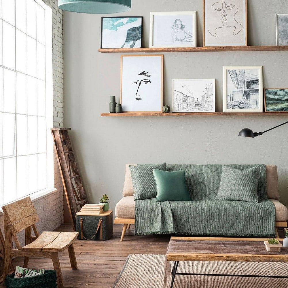 Ριχτάρι Cecil 656/18 Pine Green Gofis Home Τριθέσιο 180x310cm
