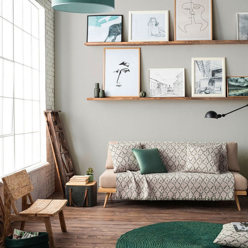 Ριχτάρι Losange 990/18 Pine Green Gofis Home Τριθέσιο 180x310cm