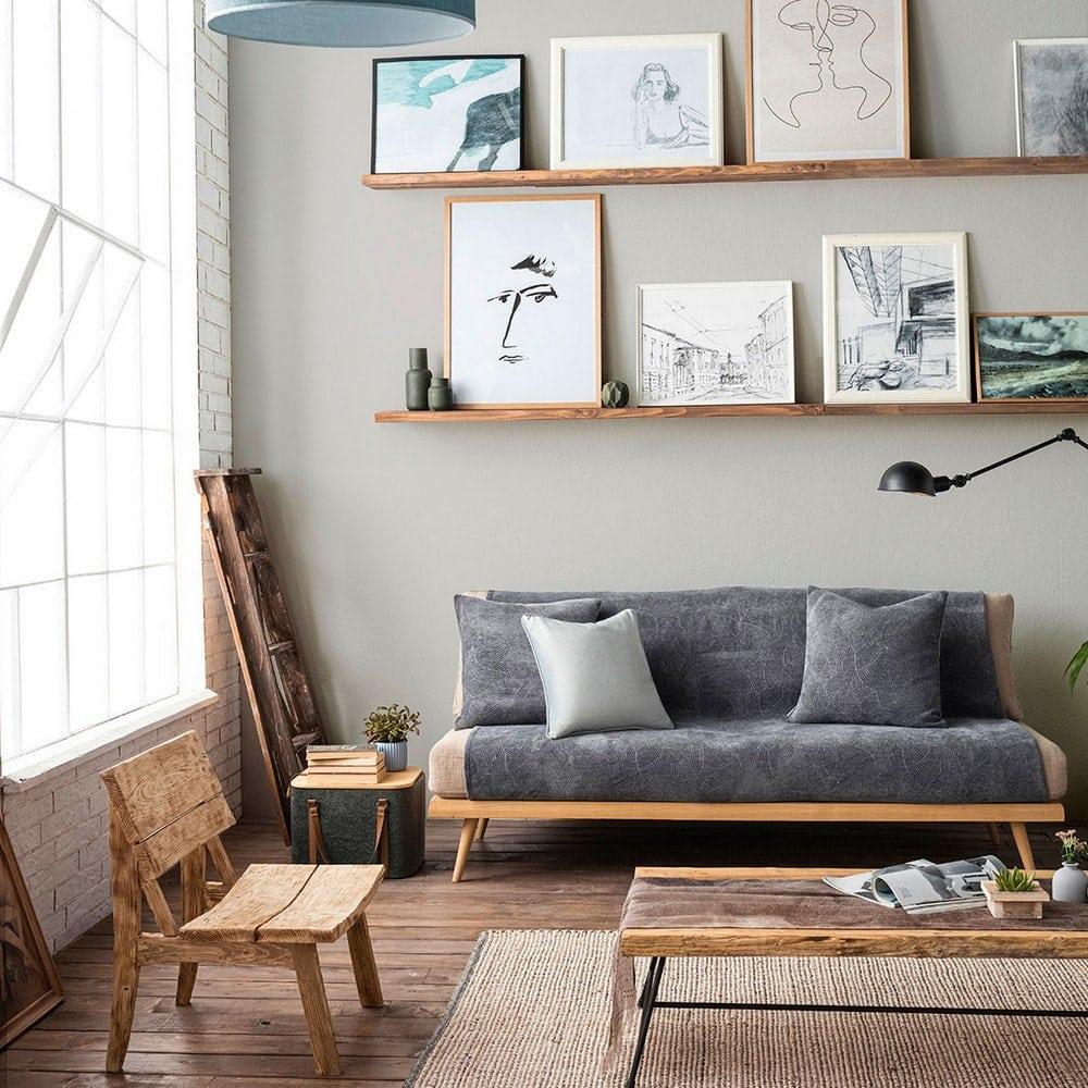 Ριχτάρι Nimbus 447/14 Coal Grey Gofis Home Πολυθρόνα 180x180cm