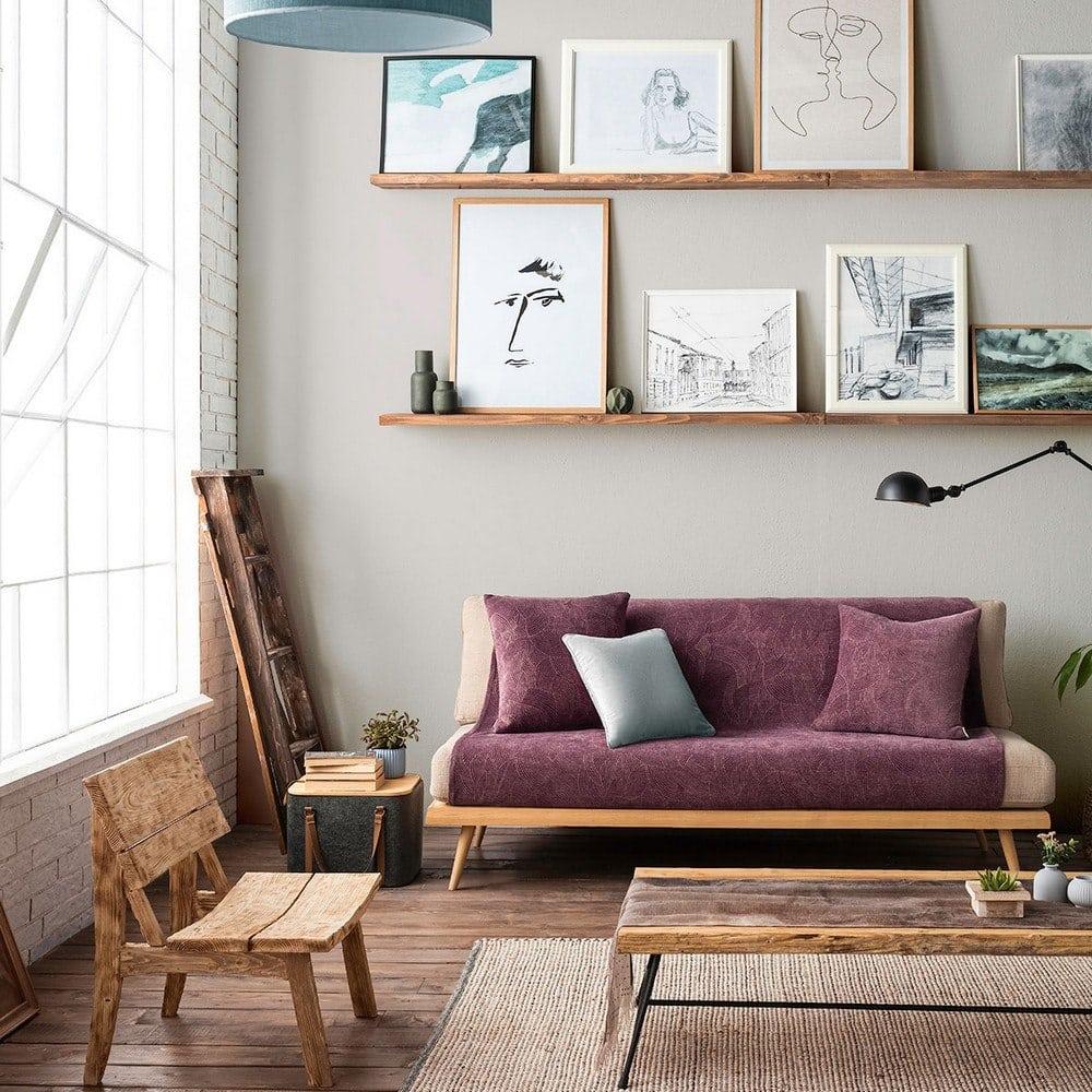 Ριχτάρι Nimbus 447/19 Purple Gofis Home Πολυθρόνα 180x180cm