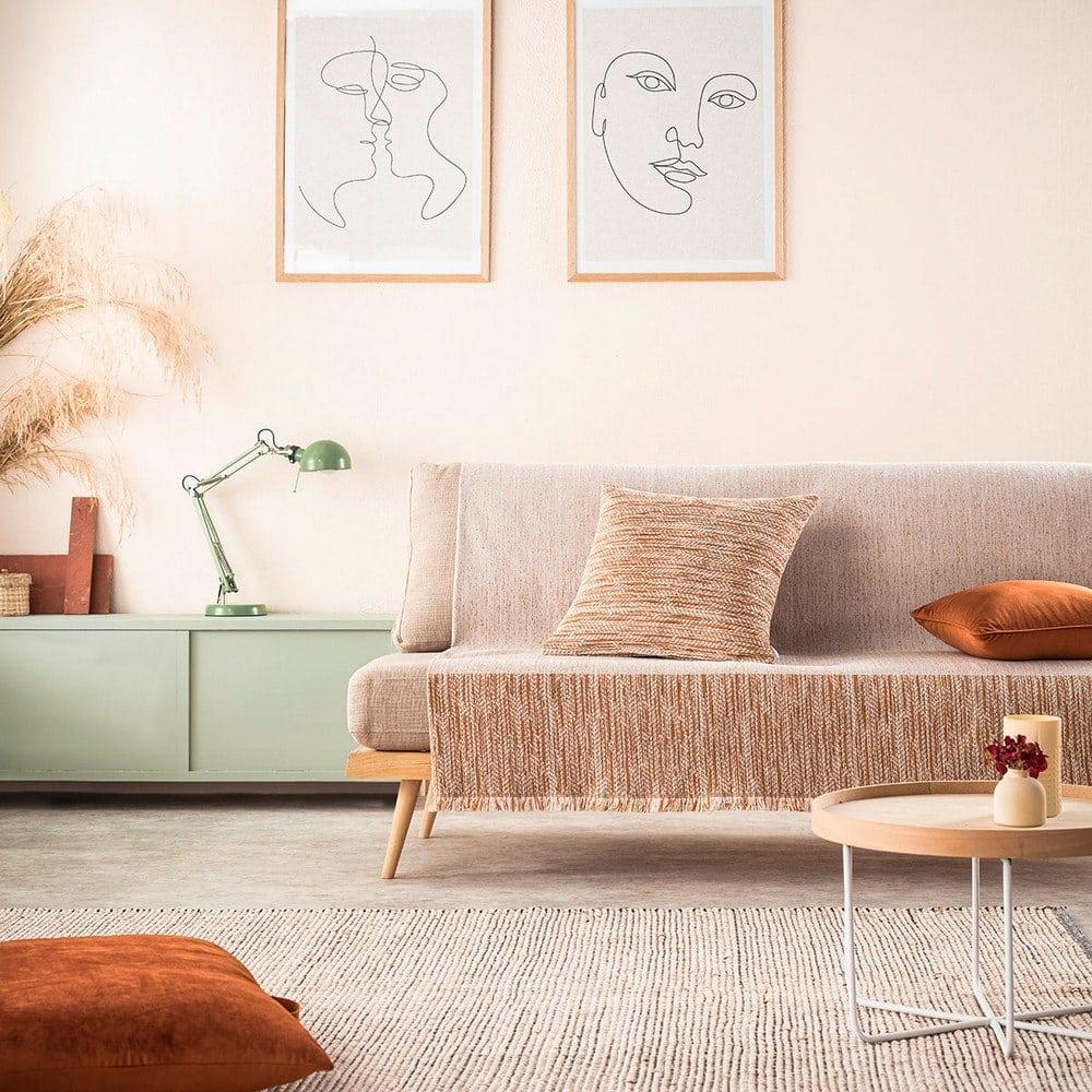 Ριχτάρι Renkly 645/03 Orange Gofis Home Τετραθέσιο 180x350cm