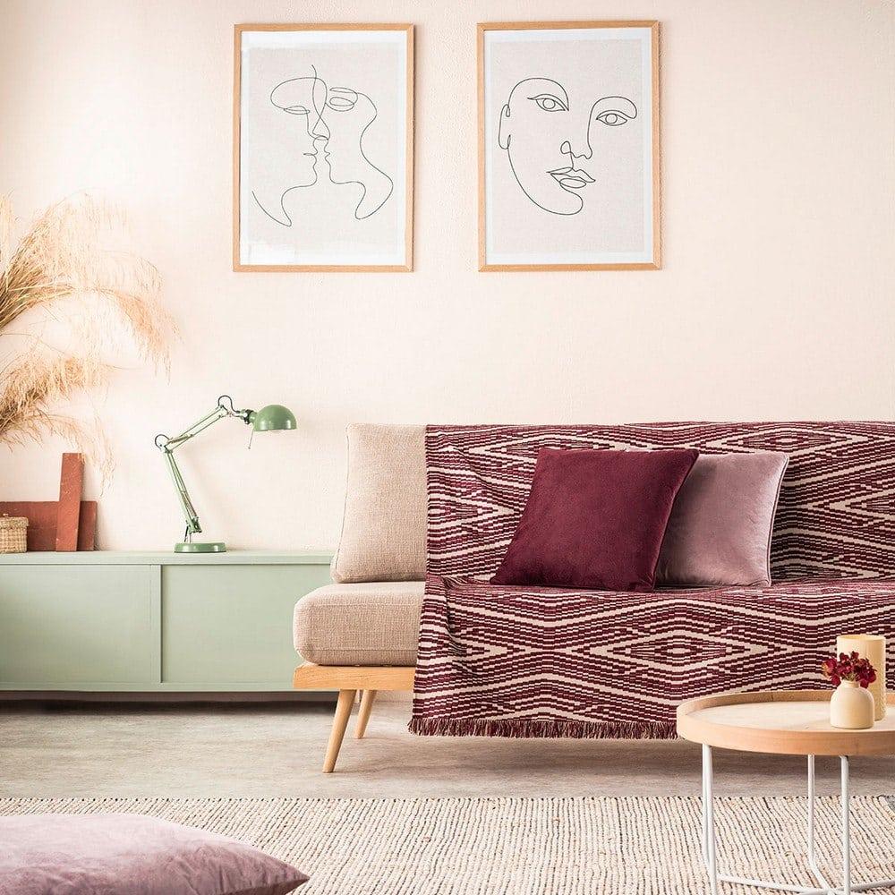 Ριχτάρι Streamy 663/02 Cherry Gofis Home Πολυθρόνα 180x180cm