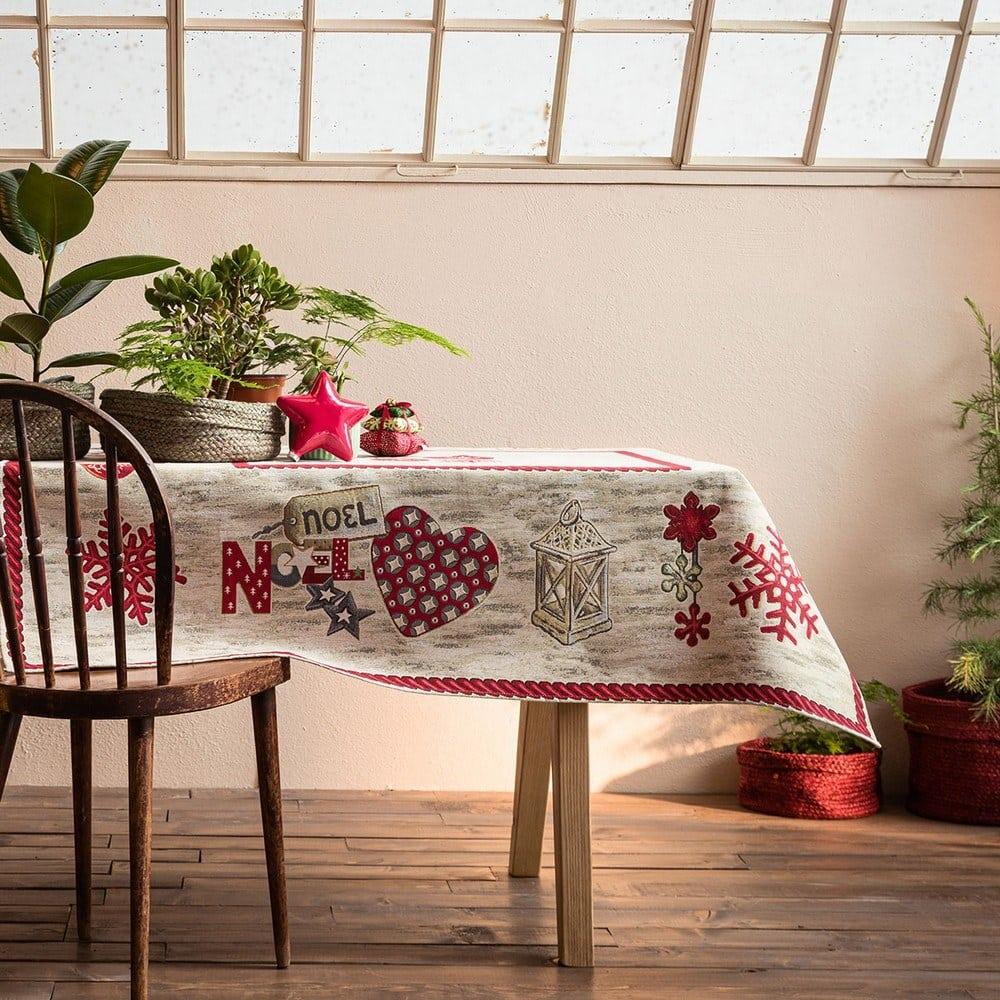 Τραπεζομάντηλο Χριστουγεννιάτικο 148 Ecru Gofis Home 150X200