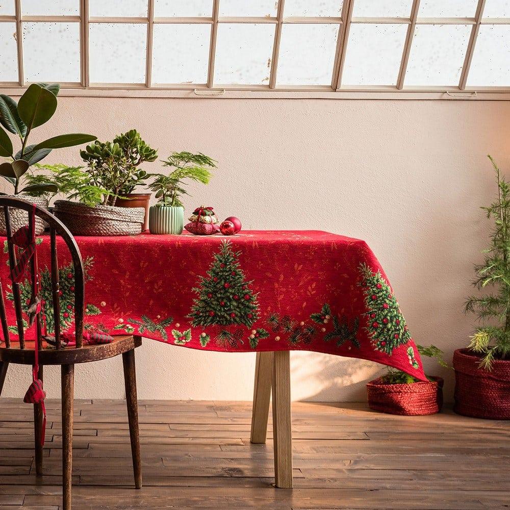 Τραπεζομάντηλο Χριστουγεννιάτικο 603 Red Gofis Home 150X200