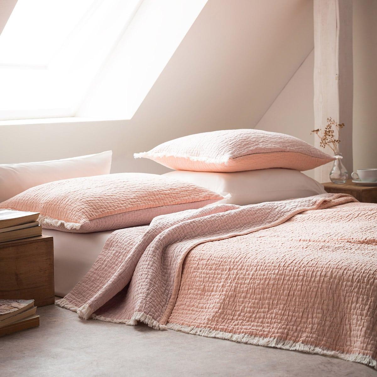 Κουβερτόριο Διπλής Όψης Cloudy 977/17 Pink-Somon Gofis Home Υπέρδιπλo