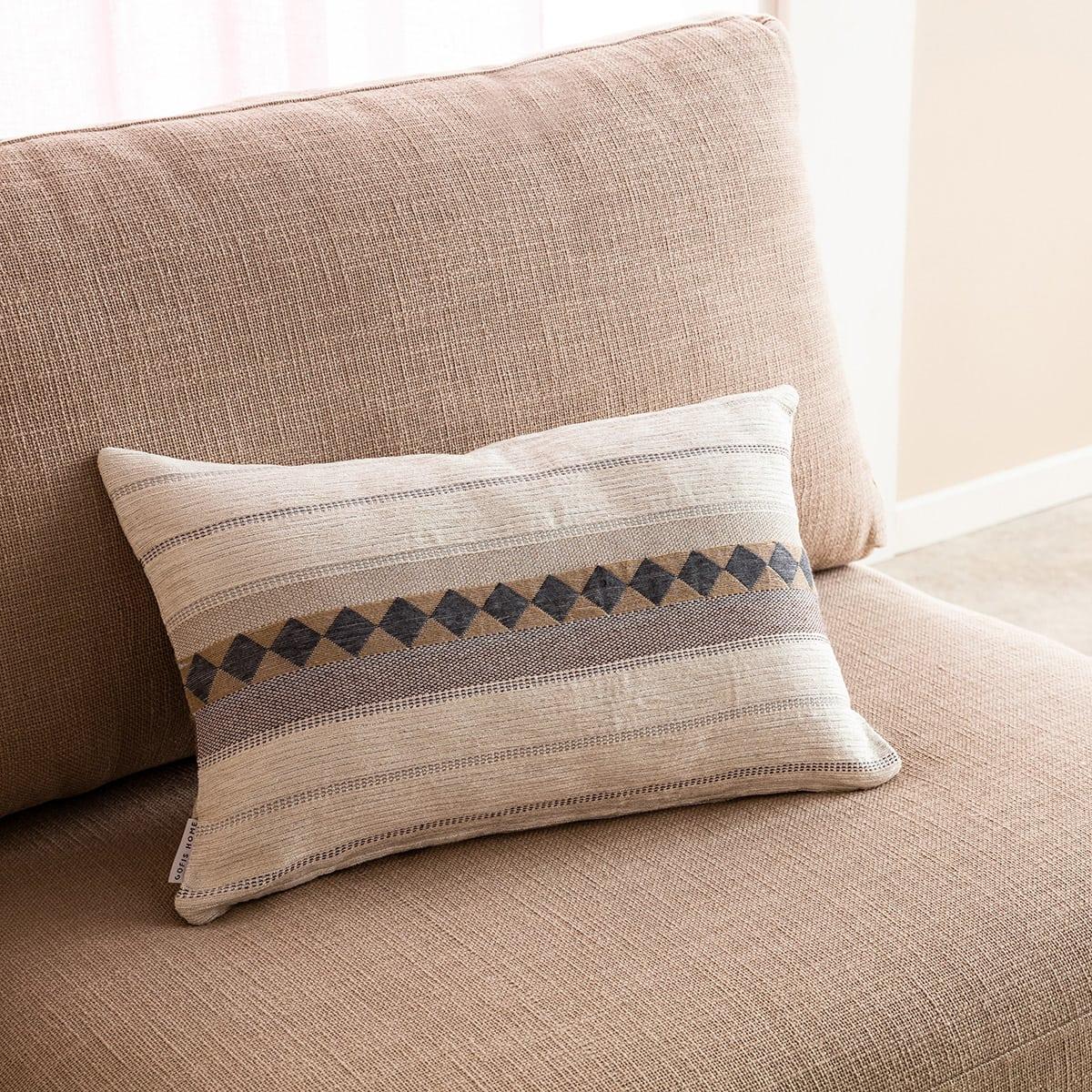 Μαξιλαροθήκη Διακοσμητική Kallista 287/15 Grey Gofis Home 30Χ50 Βαμβάκι-Polyester