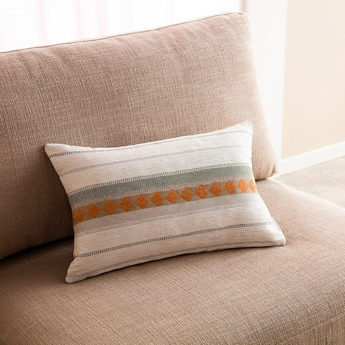 Μαξιλαροθήκη Διακοσμητική Kallista 287/18 Khaki Gofis Home 30Χ50 Βαμβάκι-Polyester