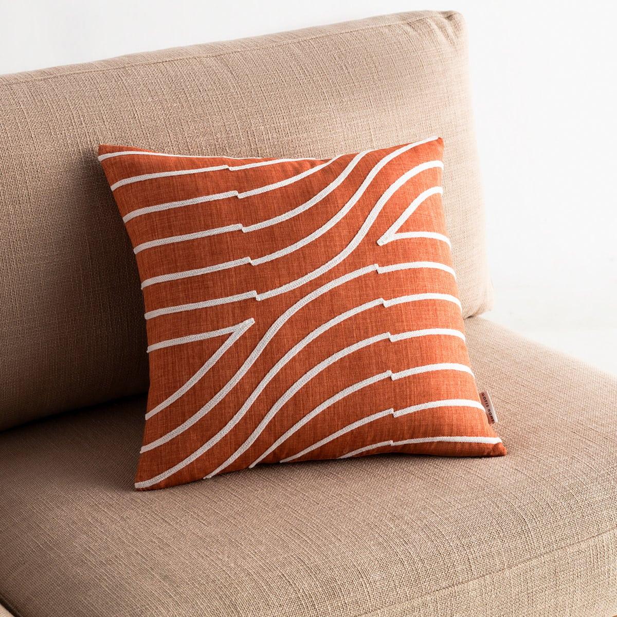 Μαξιλαροθήκη Διακοσμητική Amon 261/13 Tan Brown Gofis Home 45X45 100% Polyester