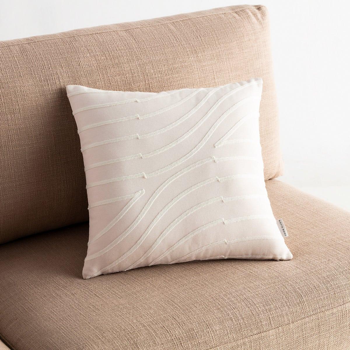 Μαξιλαροθήκη Διακοσμητική Amon 261/16 Off White Gofis Home 45X45 100% Polyester