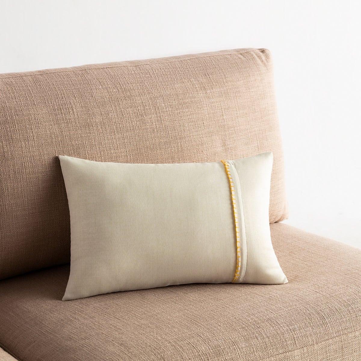 Μαξιλαροθήκη Διακοσμητική Chrome 930C/04 Off White-Mustard Gofis Home 30Χ50 100% Polyester
