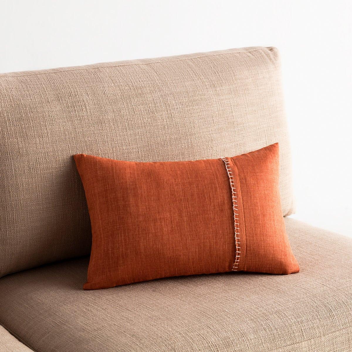Μαξιλαροθήκη Διακοσμητική Chrome 930C/13 Tan-Off White Gofis Home 30Χ50 100% Polyester