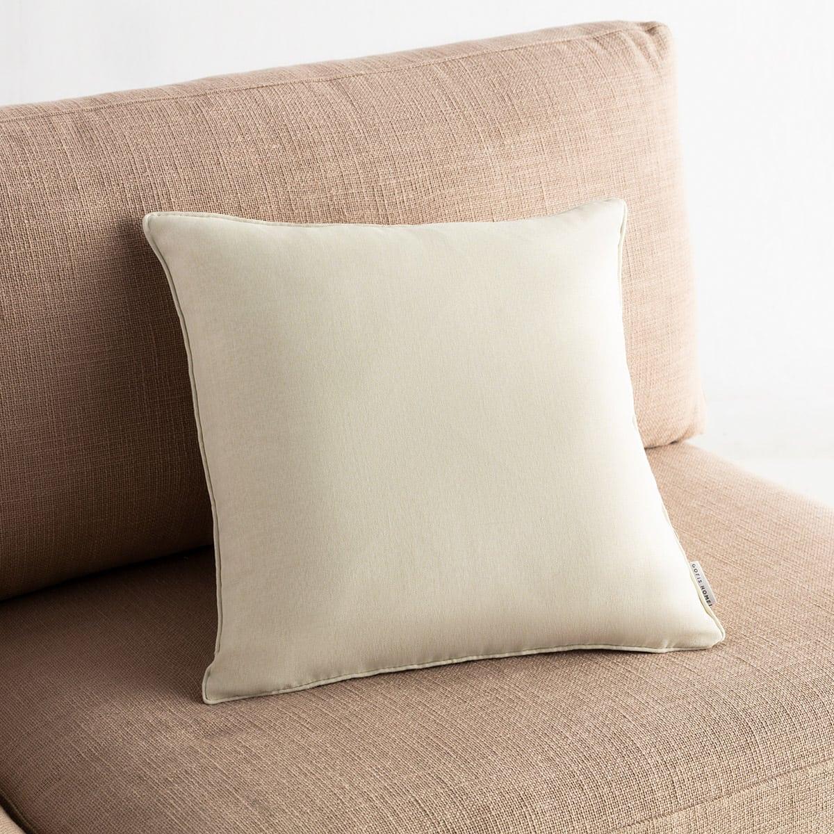 Μαξιλαροθήκη Διακοσμητική Chrome 930B/16 Off White Gofis Home 45X45 100% Polyester
