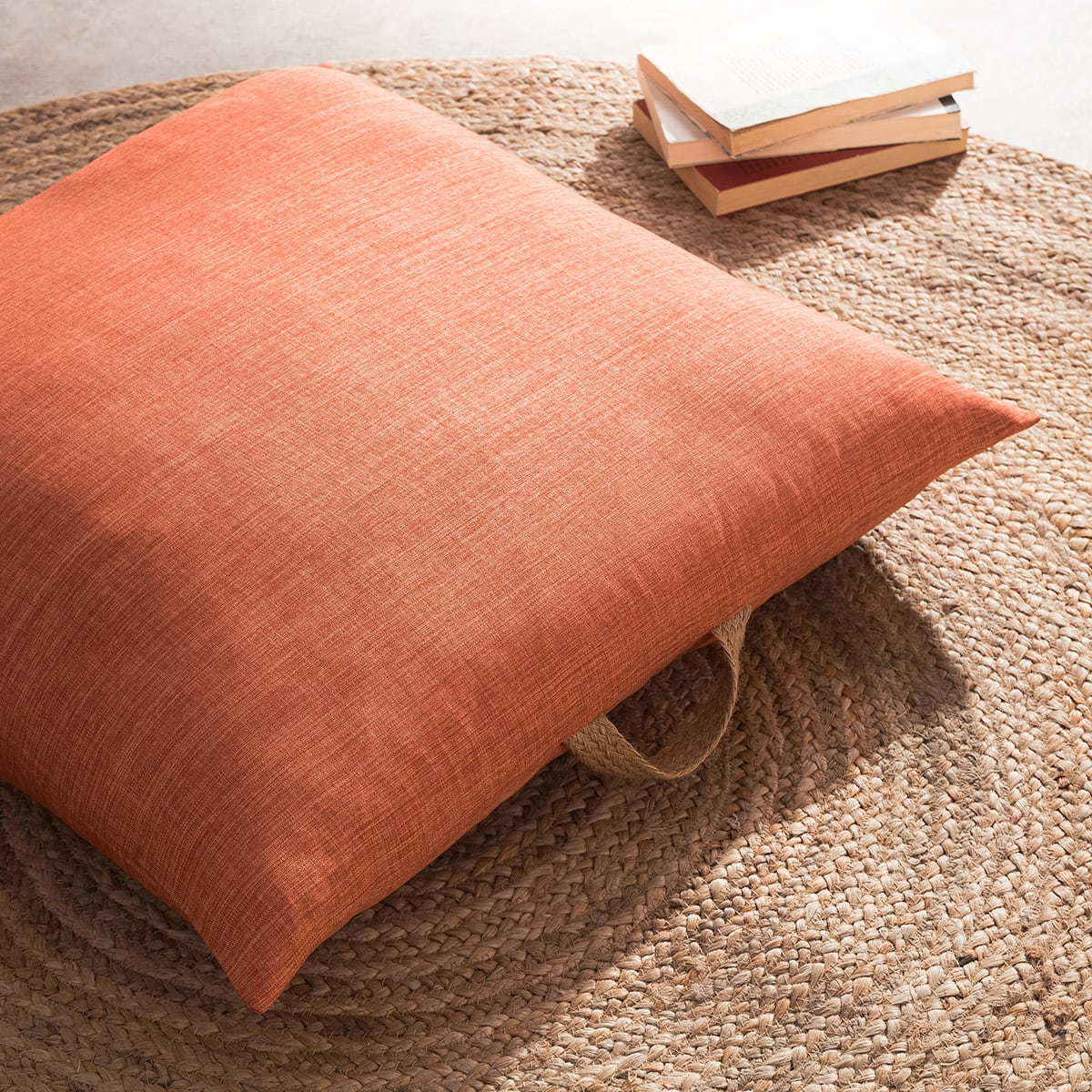 Μαξιλαροθήκη Διακοσμητική Δαπέδου Chrome 930A/13 Tan Brown Gofis Home 60X60 100% polyester