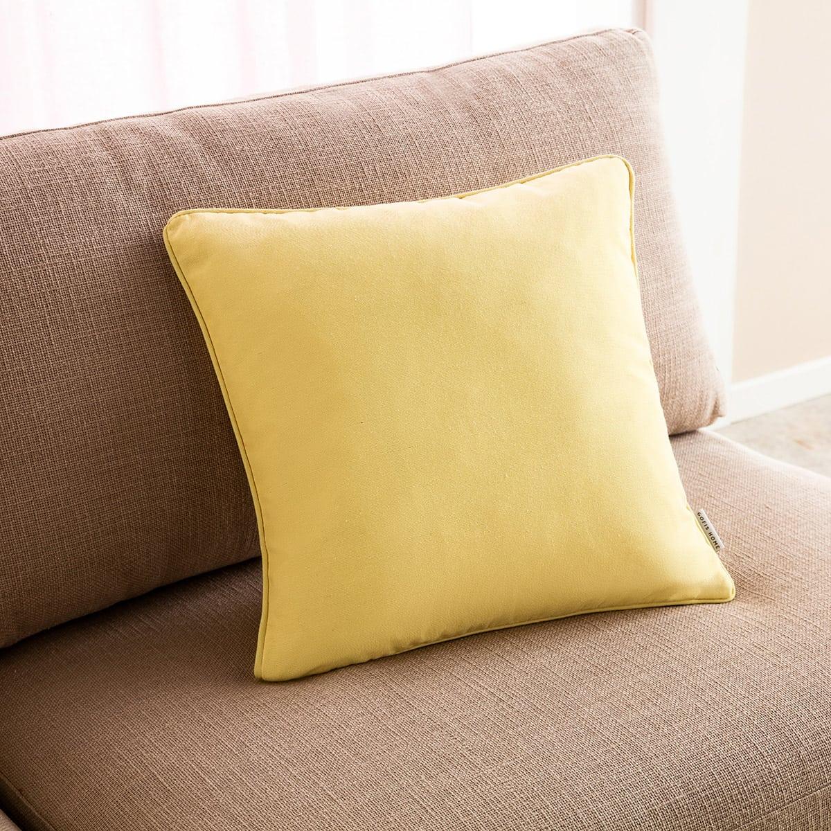 Μαξιλαροθήκη Διακοσμητική Colors 911/10 Lemon Gofis Home 45X45 Βαμβάκι-Polyester