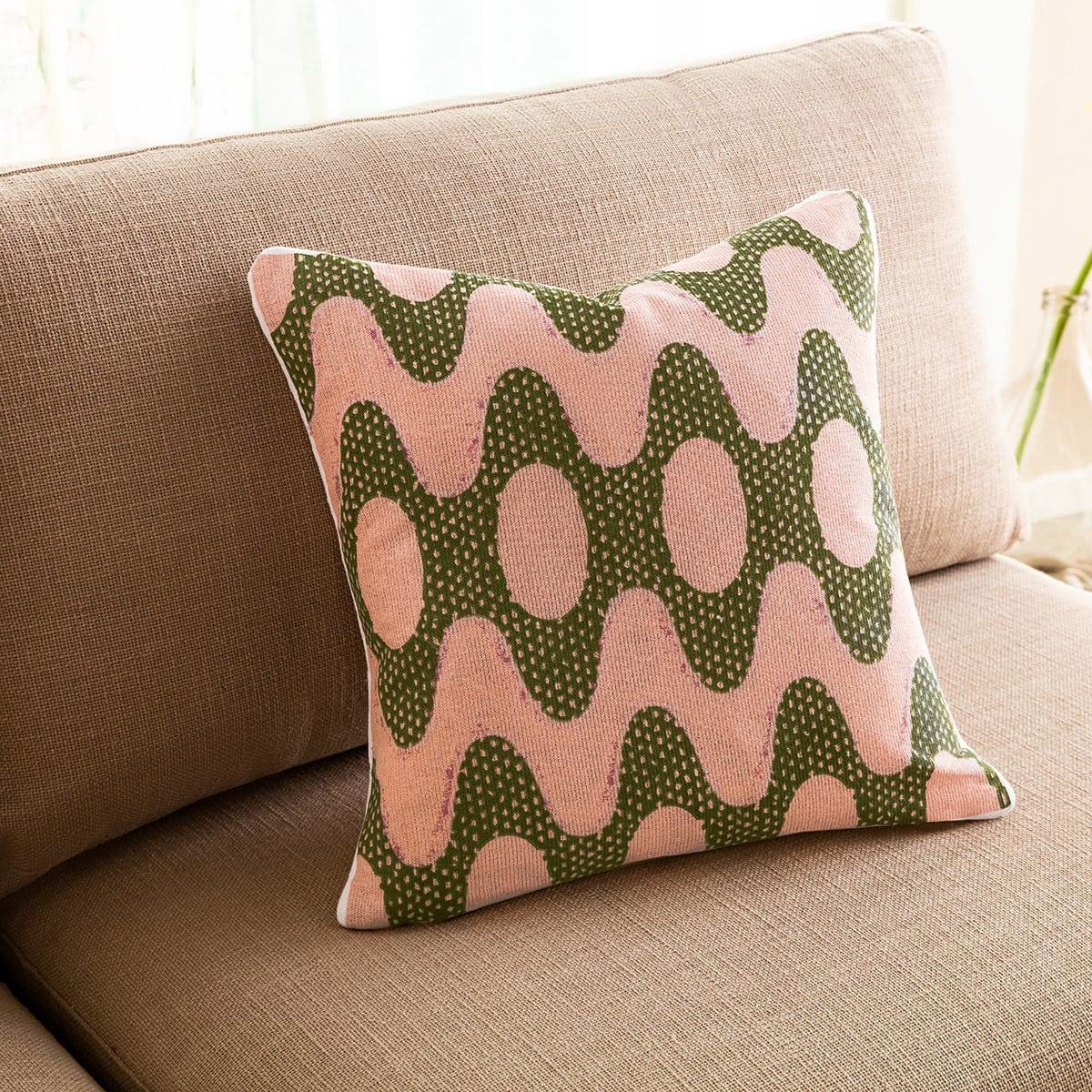 Μαξιλαροθήκη Διακοσμητική Dizzy 659 Somon-Green Gofis Home 45X45 100% Βαμβάκι