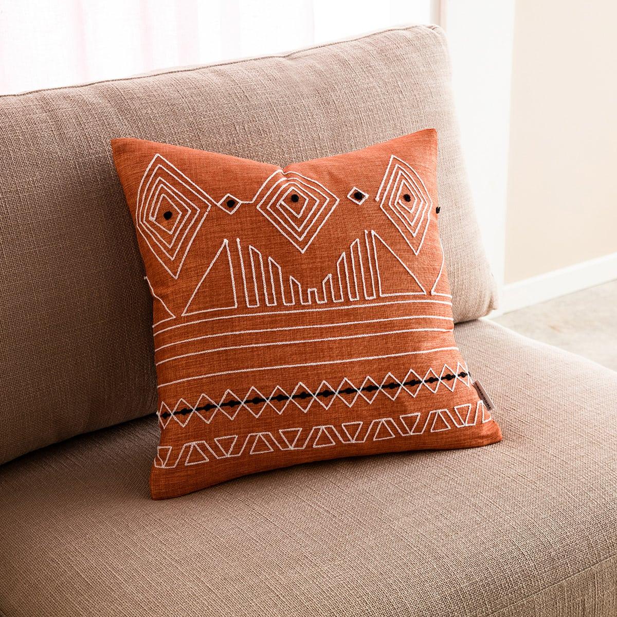 Μαξιλαροθήκη Διακοσμητική Edna 162/13 Tan Brown Gofis Home 45X45 100% Polyester