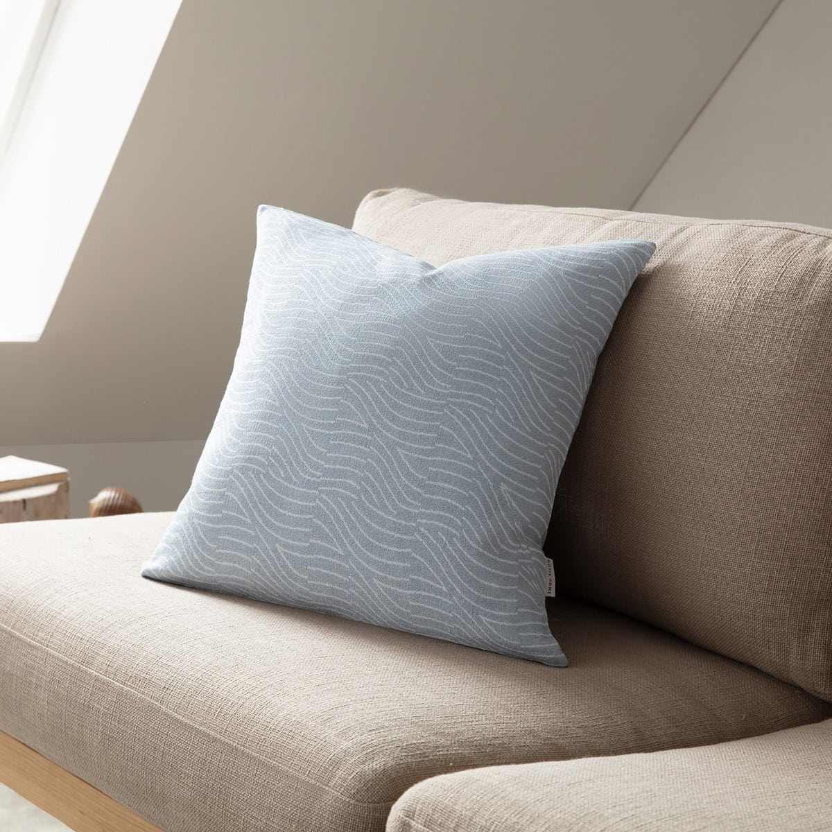 Μαξιλαροθήκη Διακοσμητική Oceania 183/01 Ciel-White Gofis Home 50X50 Βαμβάκι-Polyester