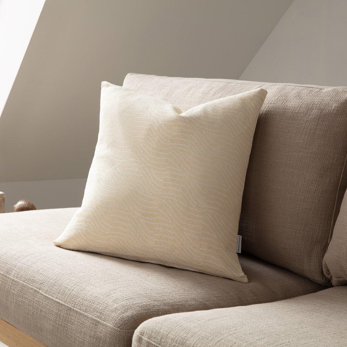 Μαξιλαροθήκη Διακοσμητική Oceania 183/04 Ochre – Off White Gofis Home 50X50 Βαμβάκι-Polyester