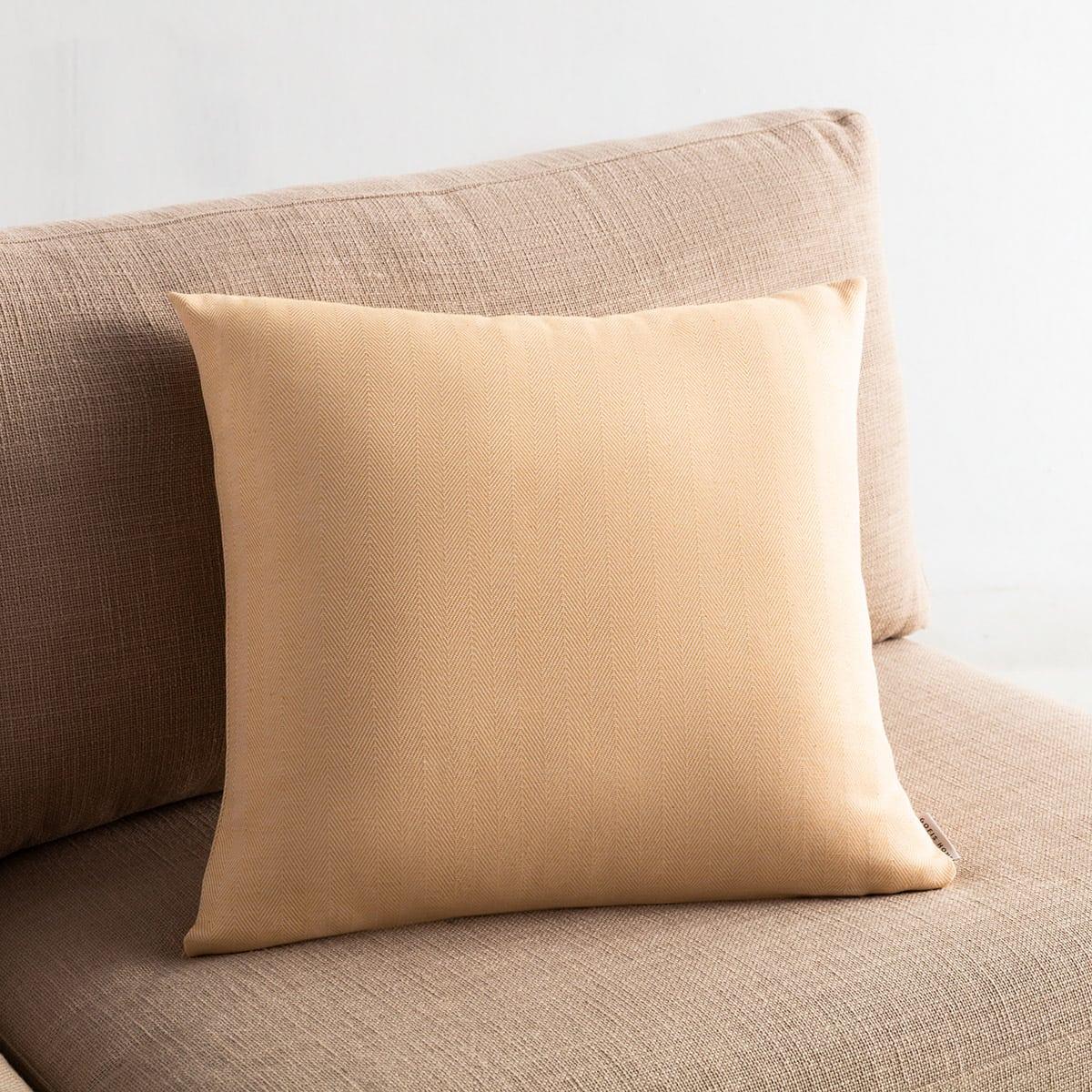 Μαξιλαροθήκη Διακοσμητική Rene 732/04 Mustard Gofis Home 50X50 Βαμβάκι-Polyester