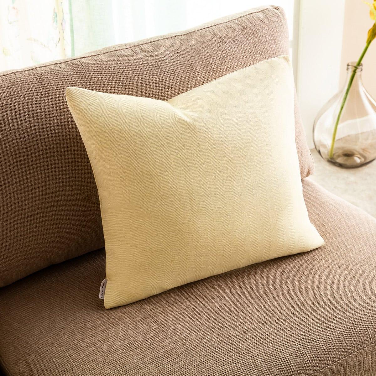 Μαξιλαροθήκη Διακοσμητική Rene 732/10 Lemon Gofis Home 50X50 Βαμβάκι-Polyester