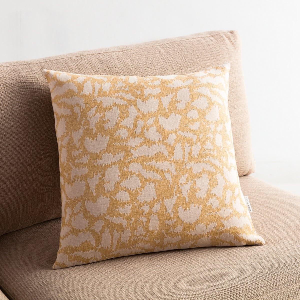 Μαξιλαροθήκη Διακοσμητική Simone 458/04 Mustard Gofis Home 50X50 Βαμβάκι-Polyester