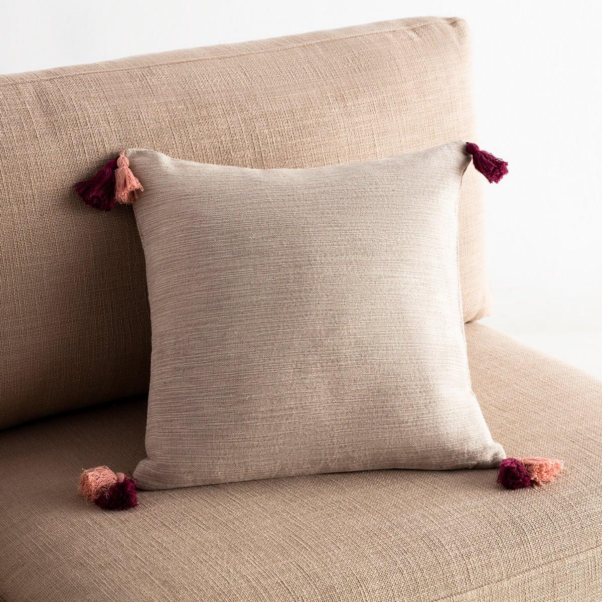 Μαξιλαροθήκη Διακοσμητική Trace 467/02 Red Leather-Somon Gofis Home 45X45 100% Βαμβάκι