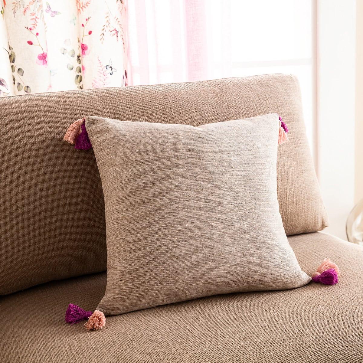 Μαξιλαροθήκη Διακοσμητική Trace 467/23 Fuchsia-Pink Gofis Home 45X45 100% Βαμβάκι
