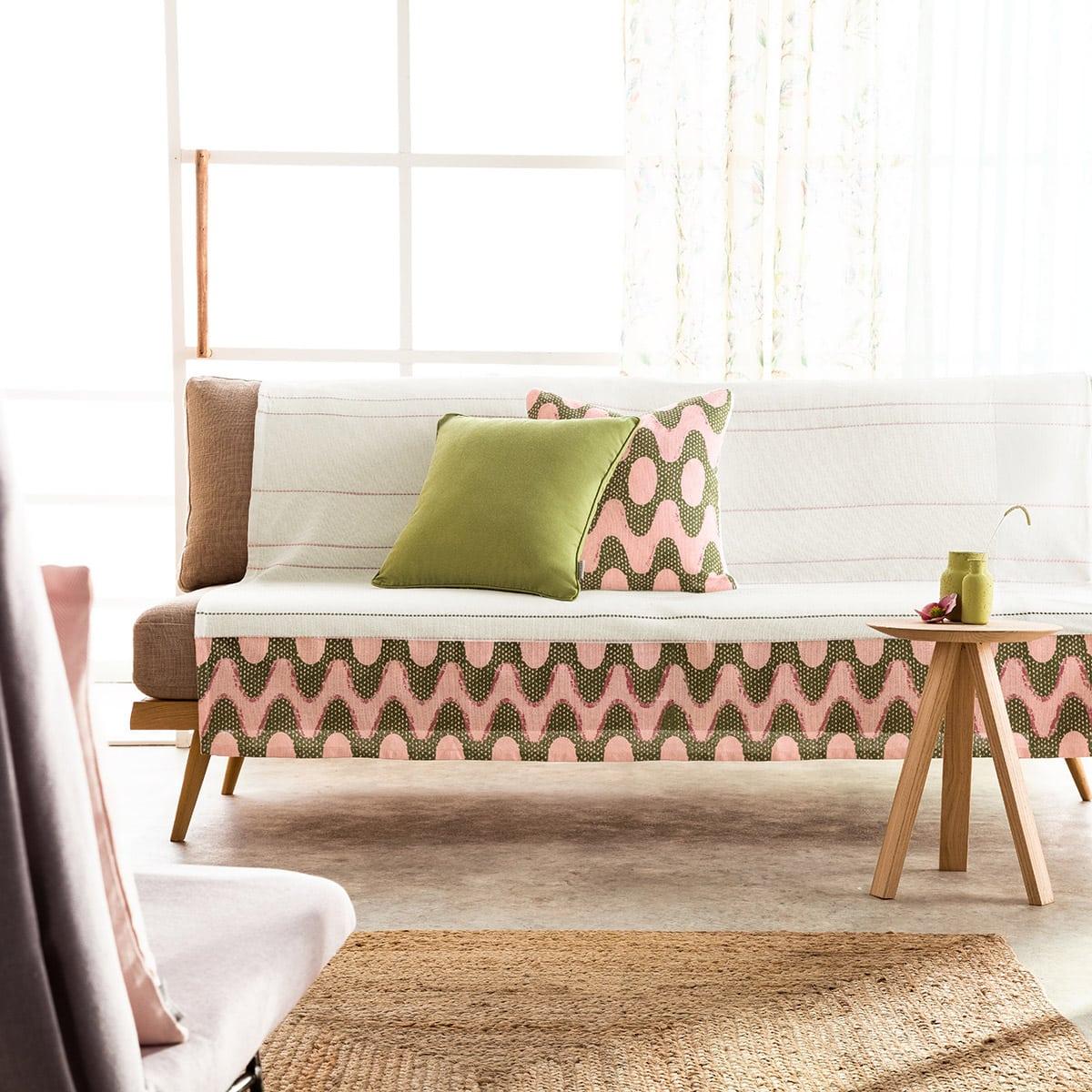 Ριχτάρι Dizzy 659 Somon-Green Gofis Home Τριθέσιο 180x310cm